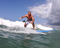 Adam Brewer Surfing Waikiki